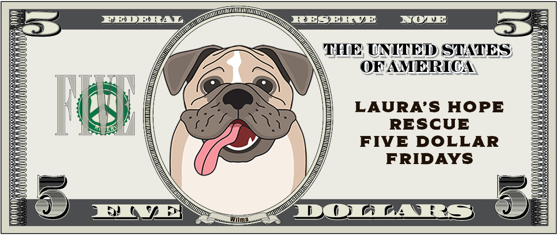 It's Wilma on a Five Dollar bill to promote LHR's Five Dollar Fridays.